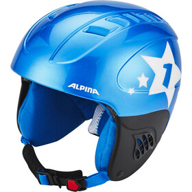Alpina Carat Casque de ski Enfant, blue-star